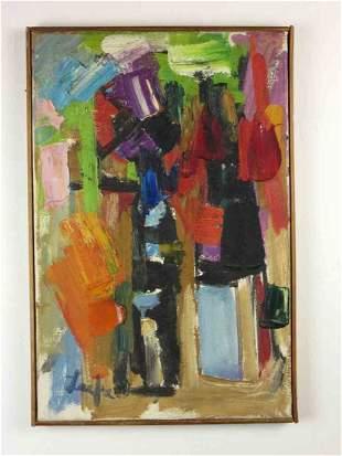 Original abstract Oil by Allen Leepa