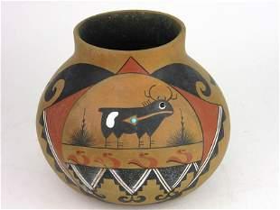 Robert Rivera Native American Painted vessel