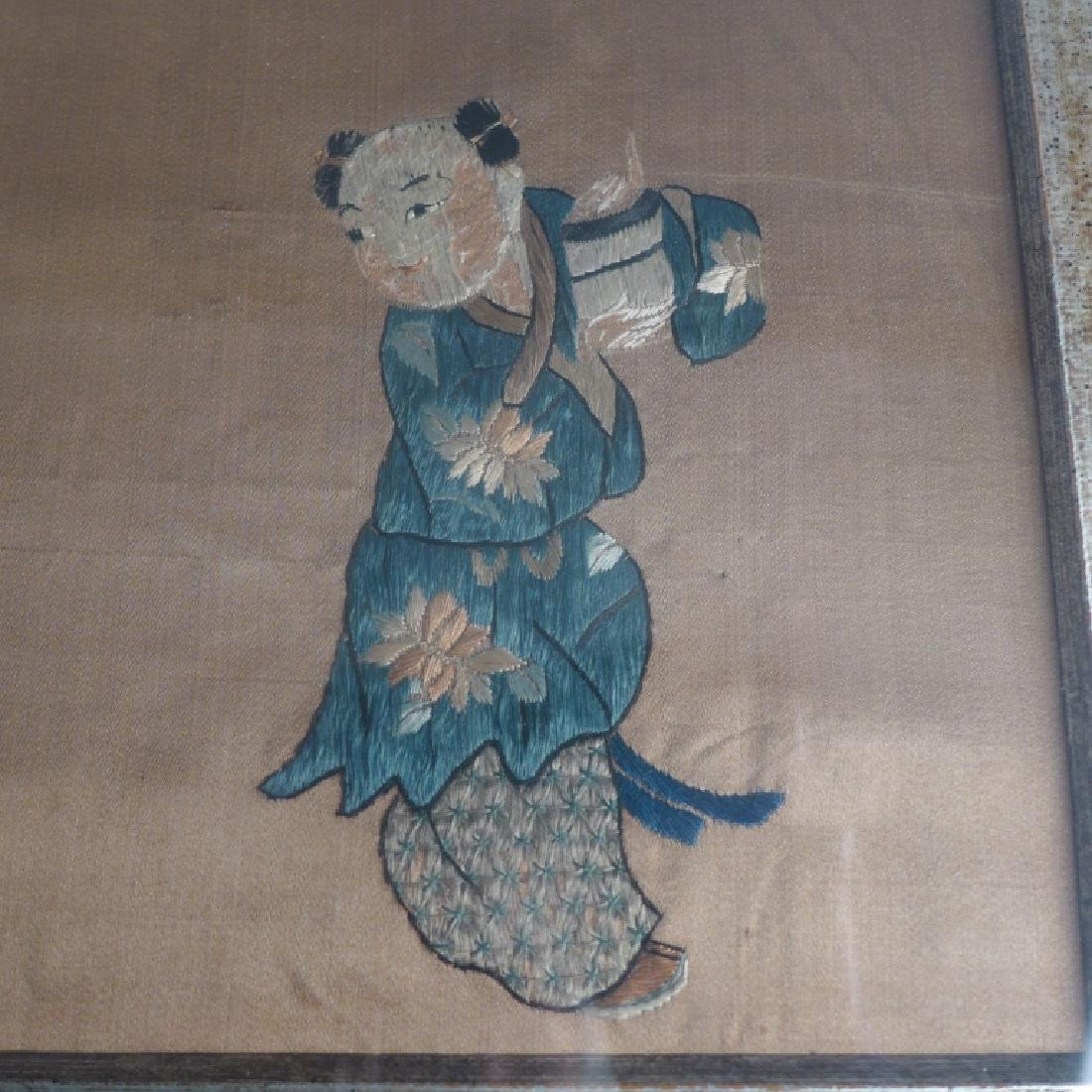 Antique Chinese Embroidery - 5