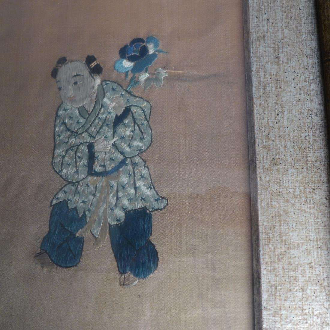 Antique Chinese Embroidery - 8