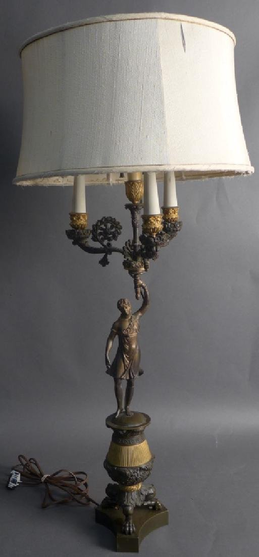Antique Charles X Style Bronze Lamp