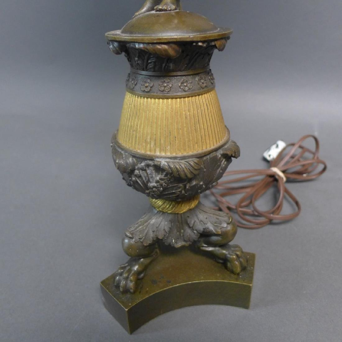 Antique Charles X Style Bronze Lamp - 4