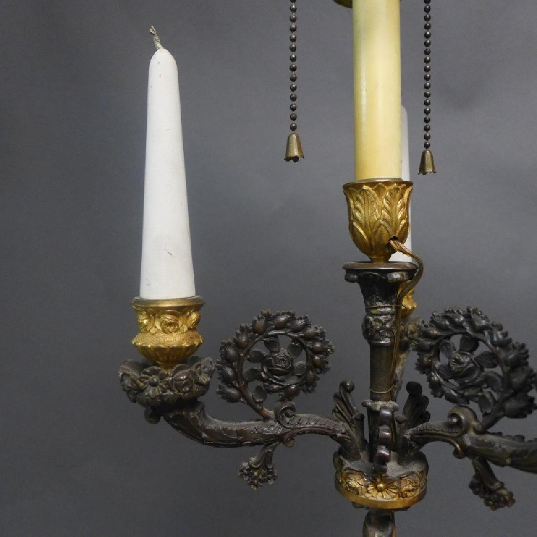 Antique Charles X Style Bronze Lamp - 7