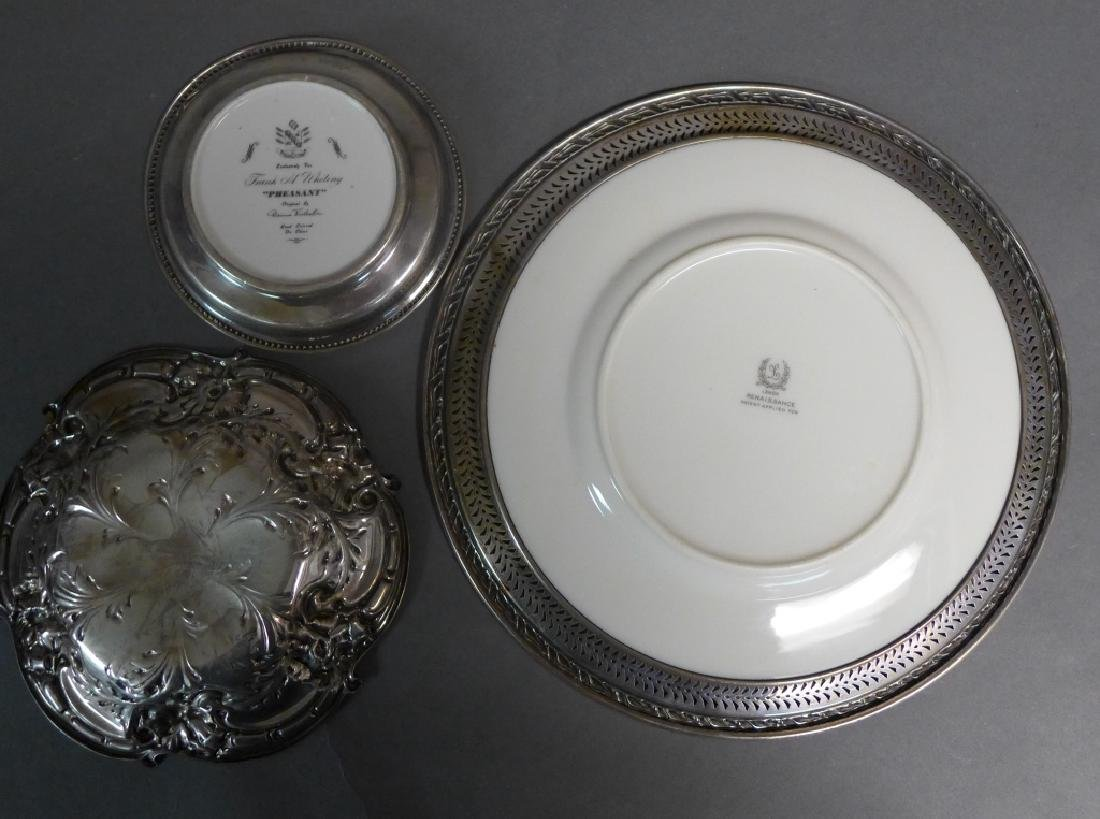 Sterling Silver Decorative Plate Grouping - 10