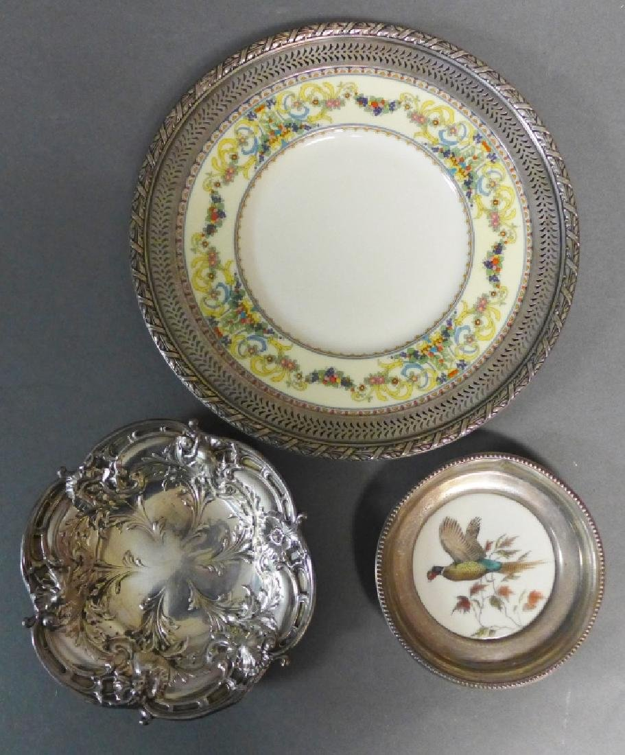 Sterling Silver Decorative Plate Grouping