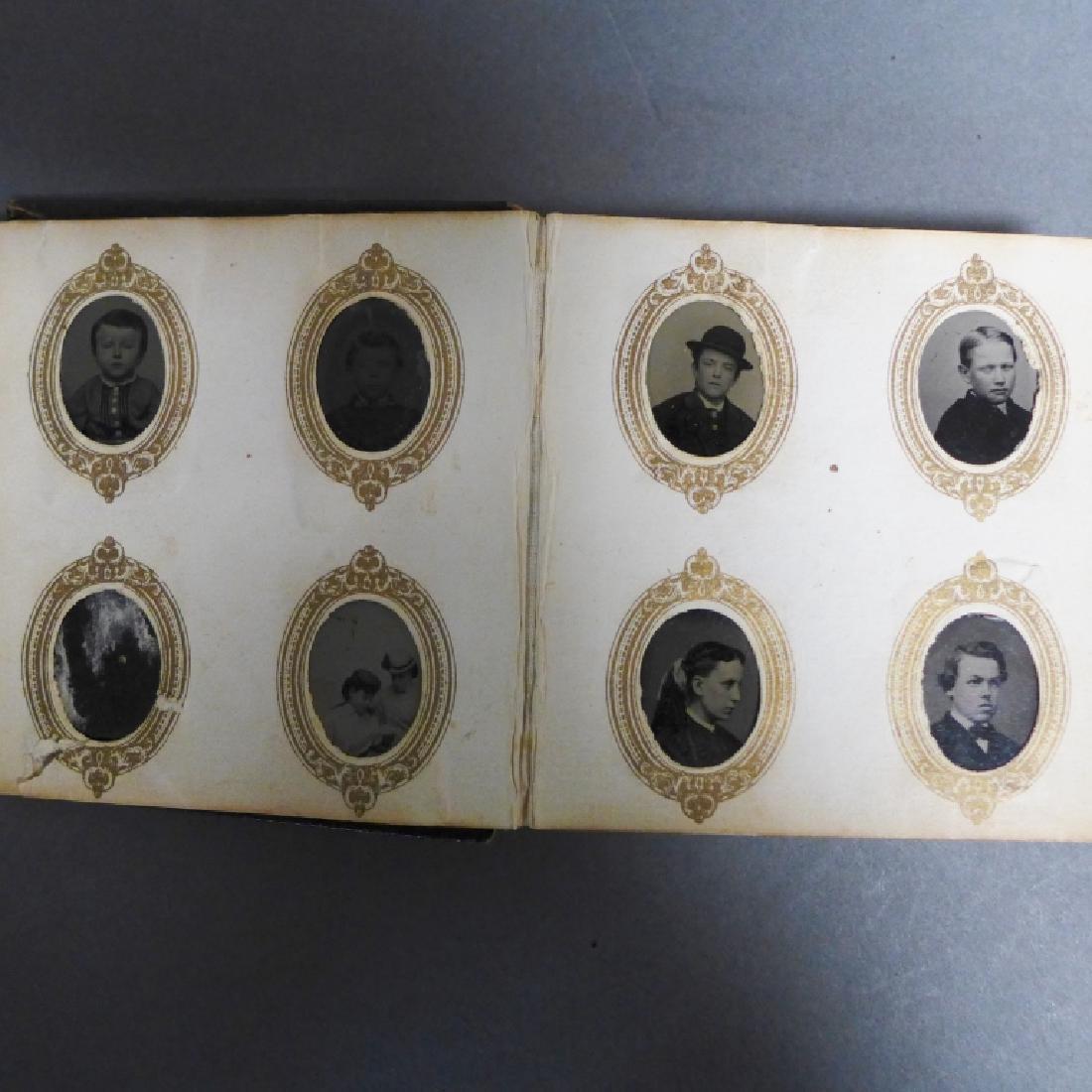 Antique Miniature Tintype Portrait Photo Album - 3