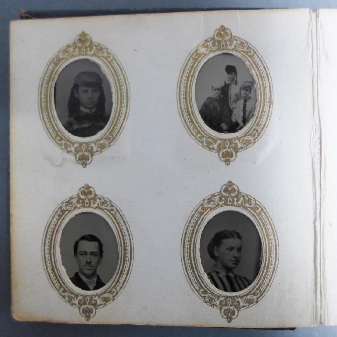 Antique Miniature Tintype Portrait Photo Album - 4