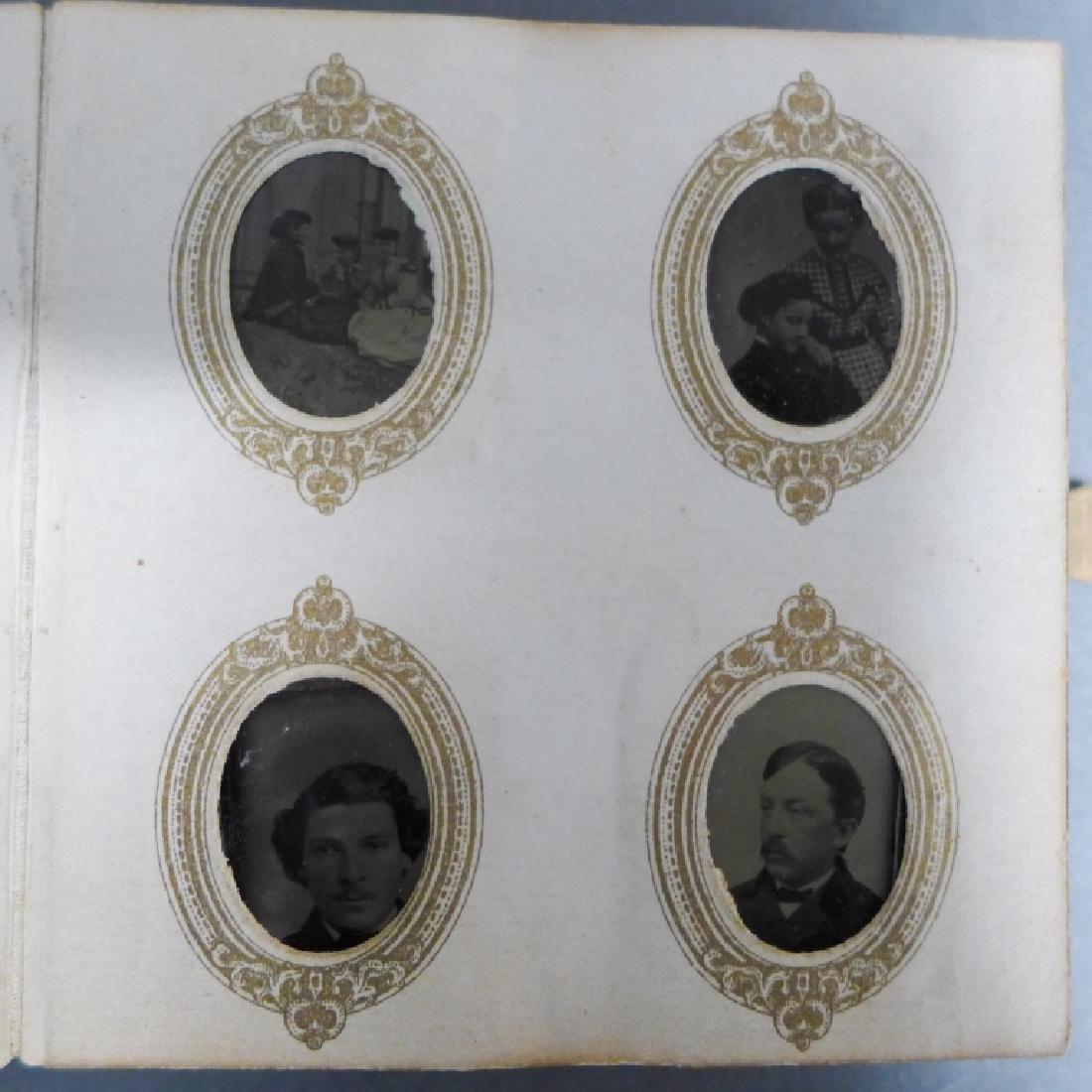Antique Miniature Tintype Portrait Photo Album - 5