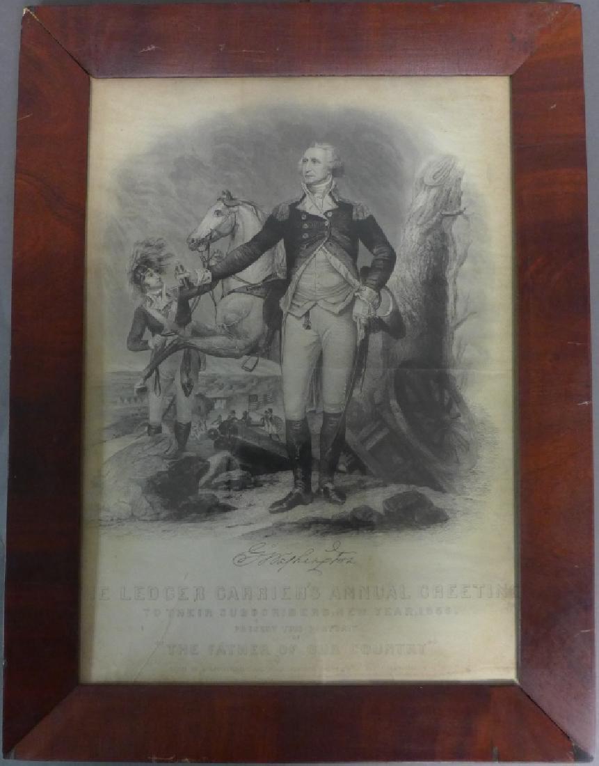 19th Century Framed Print of George Washington