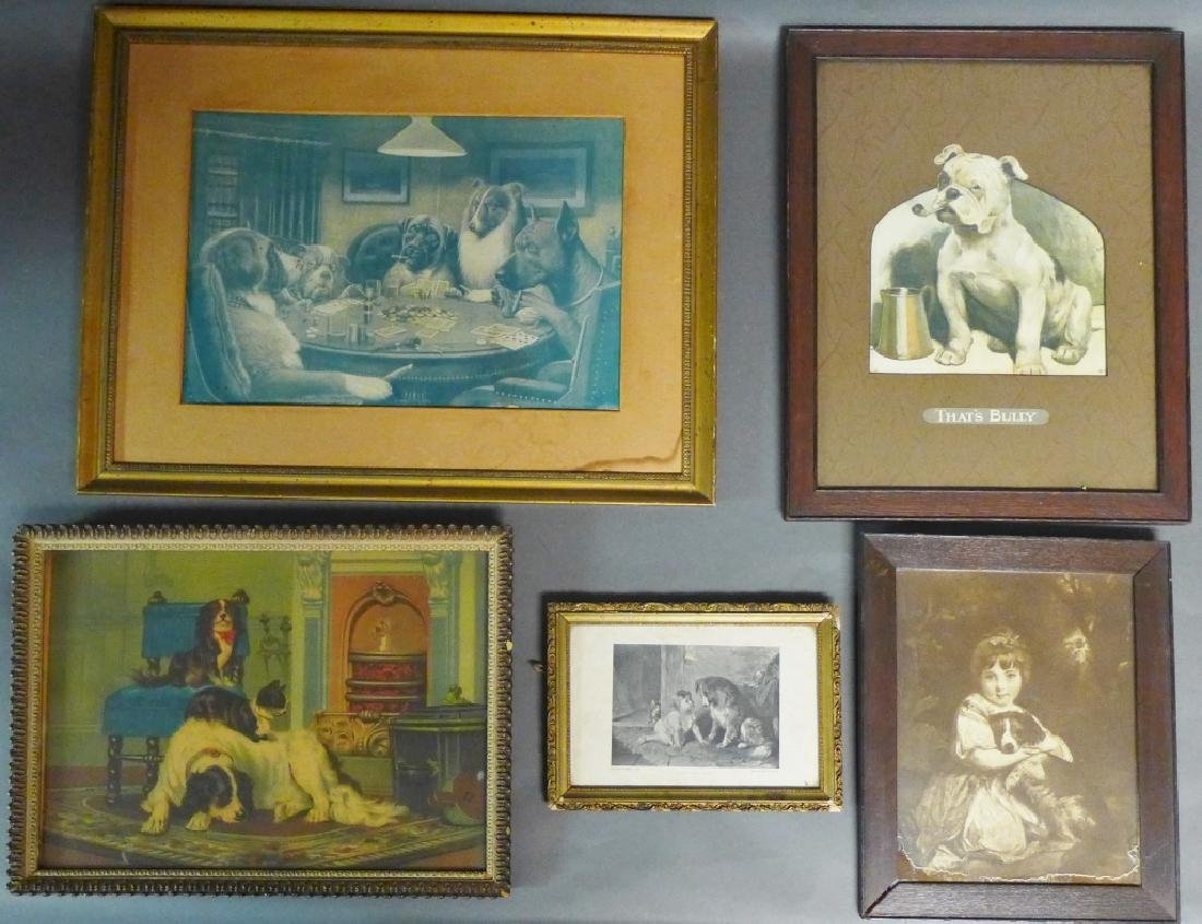 Grouping of Antique & Vintage Dog Prints