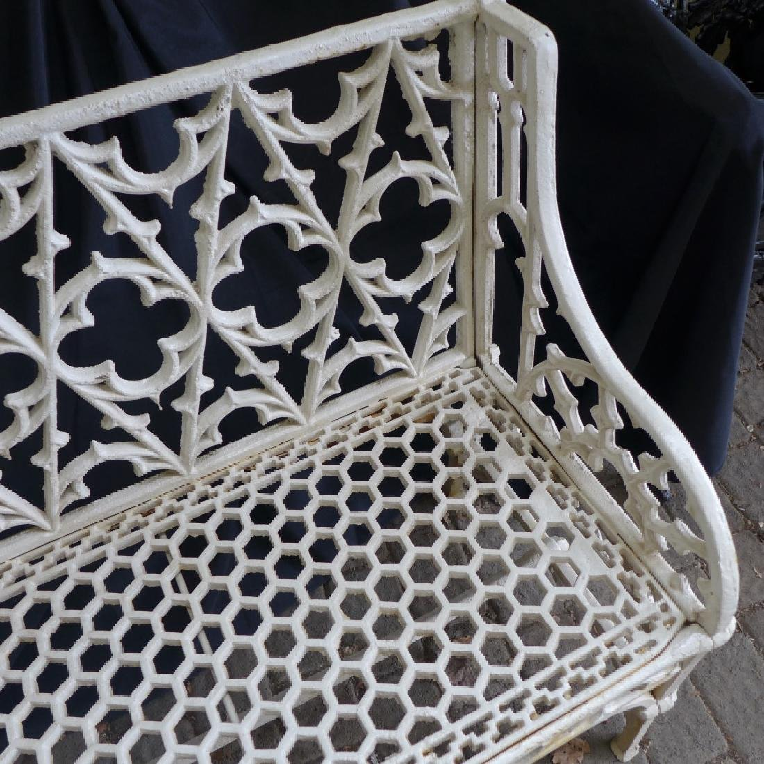 Cast Iron Gothic Bench - 10