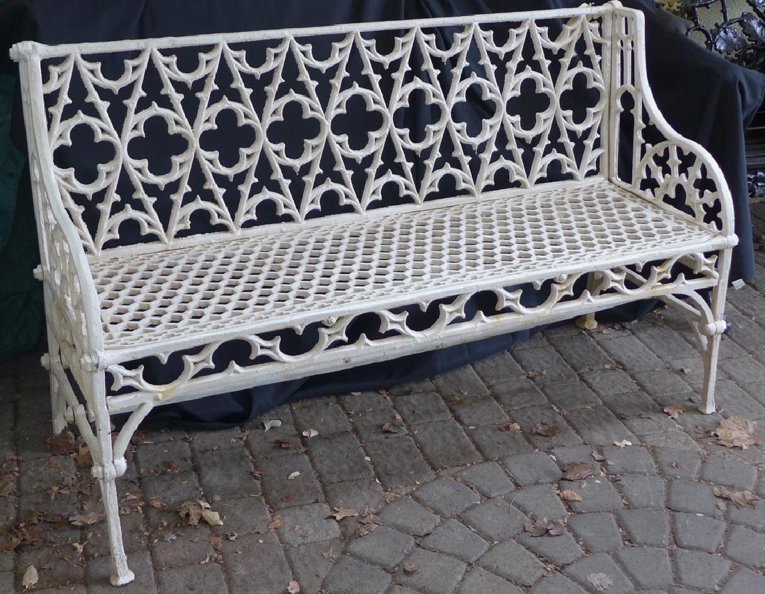 Cast Iron Gothic Bench