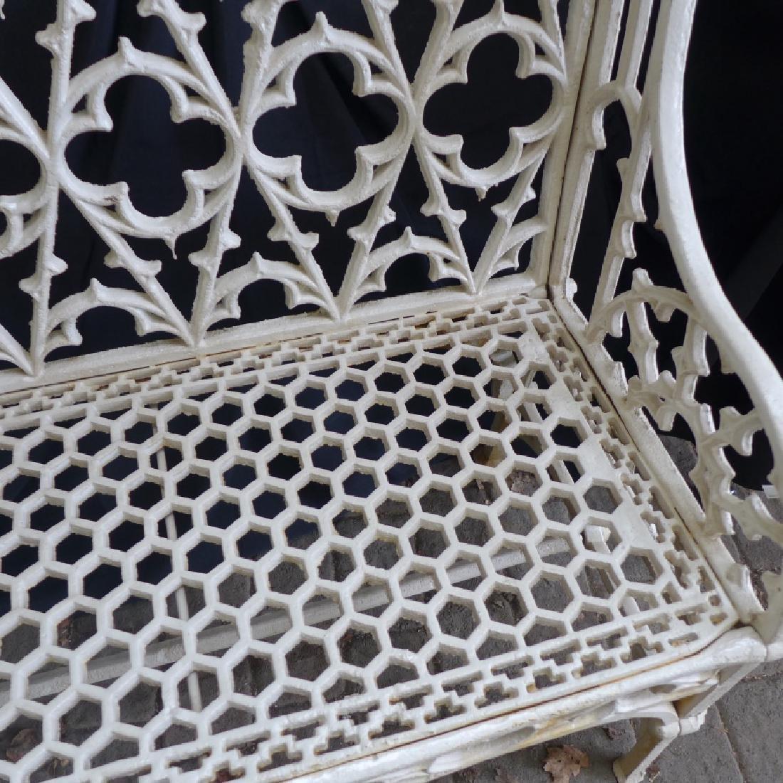 Cast Iron Gothic Bench - 2
