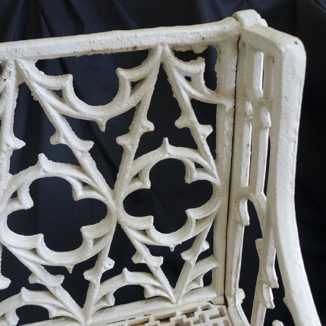 Cast Iron Gothic Bench - 3
