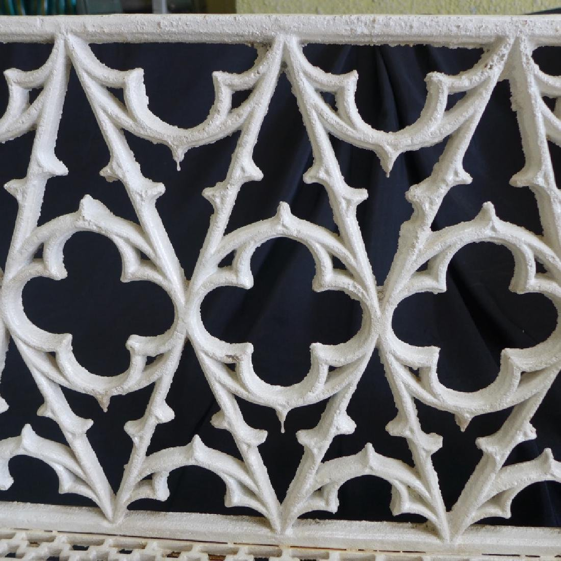 Cast Iron Gothic Bench - 4