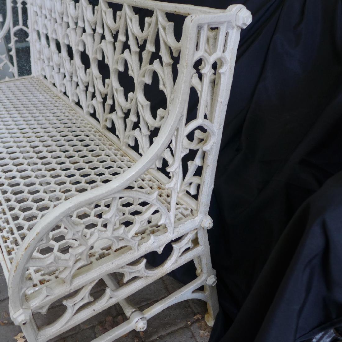 Cast Iron Gothic Bench - 5