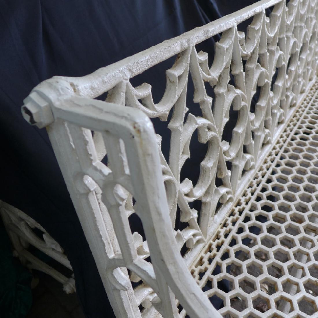 Cast Iron Gothic Bench - 6