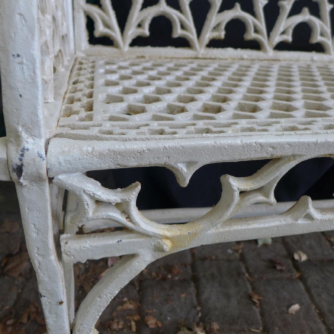 Cast Iron Gothic Bench - 8