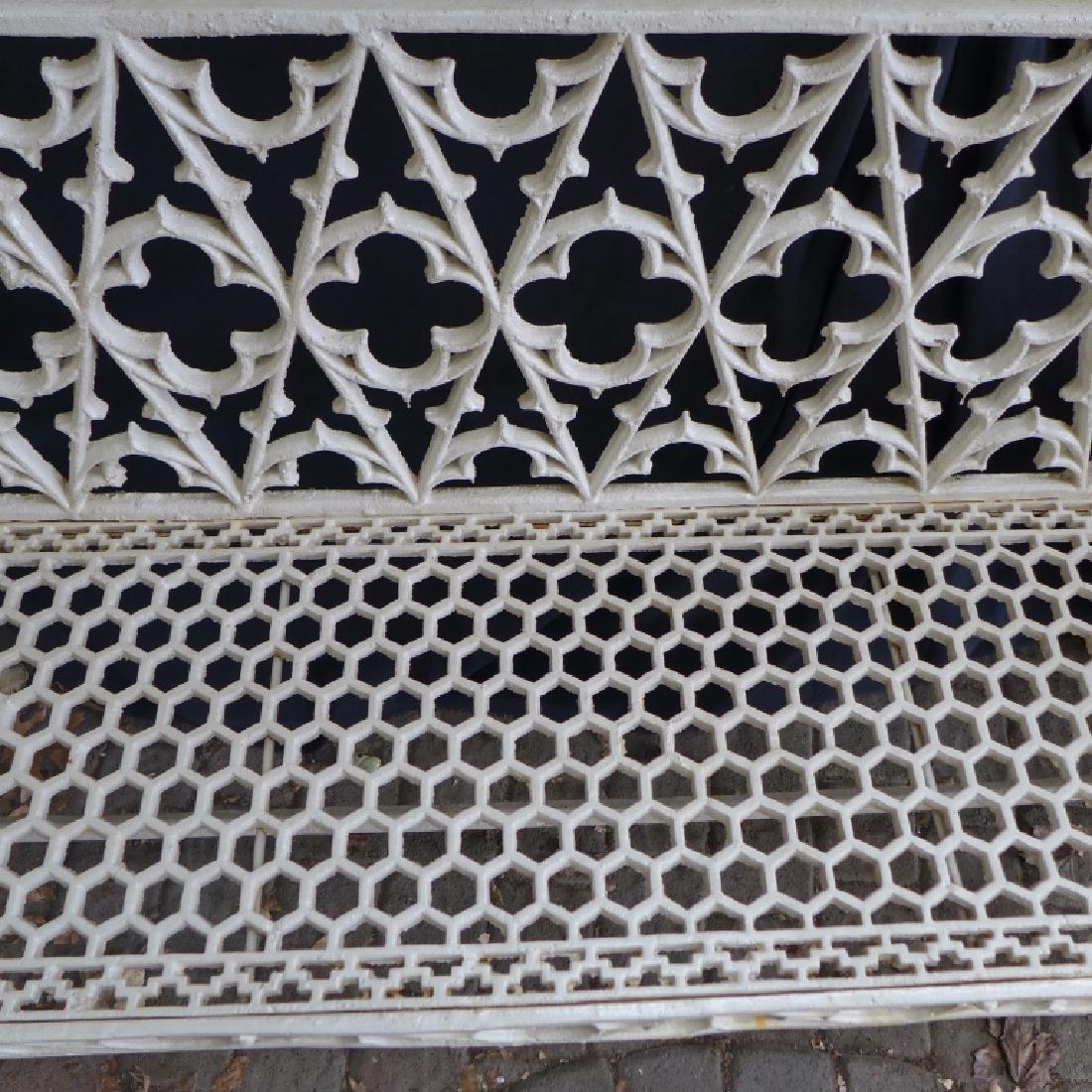 Cast Iron Gothic Bench - 9