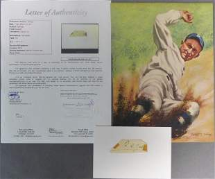 Ty Cobb Autograph/ Signed Cut w/ JSA