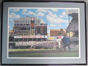 Litho of Roger Maris 61st Home-Run by Bill Purdom