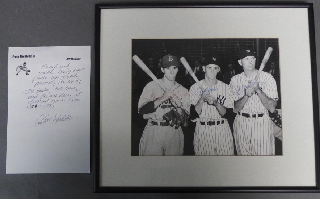 Gordon, Dickey & Reese MLB Autographed Photo