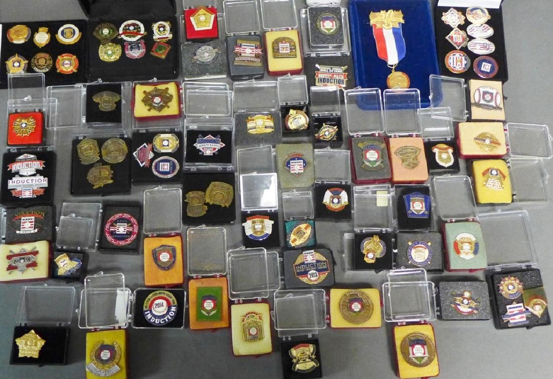 Near Complete Set of Hall of Fame Press Pins