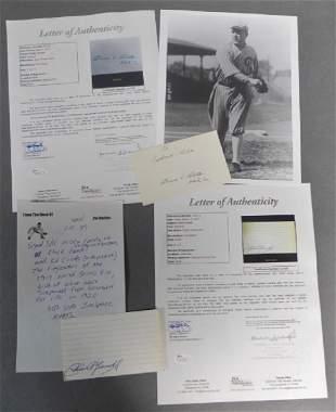 Chick Gandil & Eddie Cicotte Autographs w/ JSA