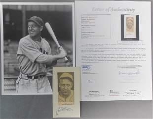 Hall of Famer Jim Bottomley Signed Cut w/ JSA