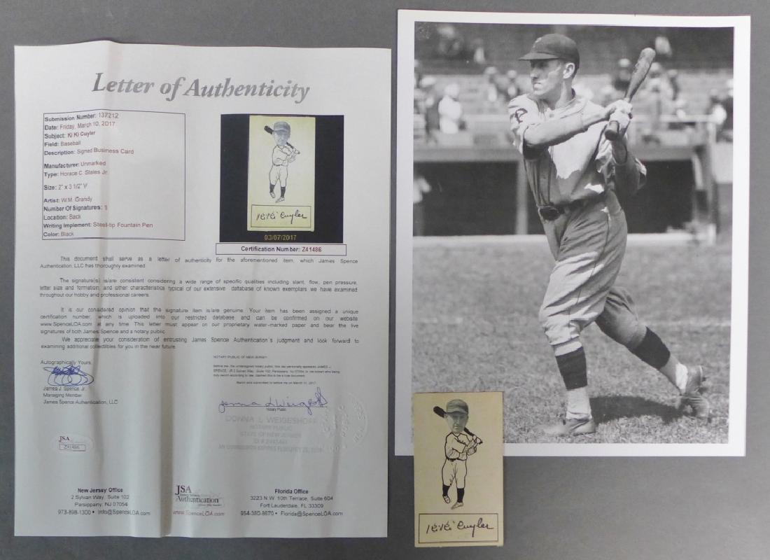 Hall of Famer Ki Ki Cuyler Signed Business Card w/ JSA