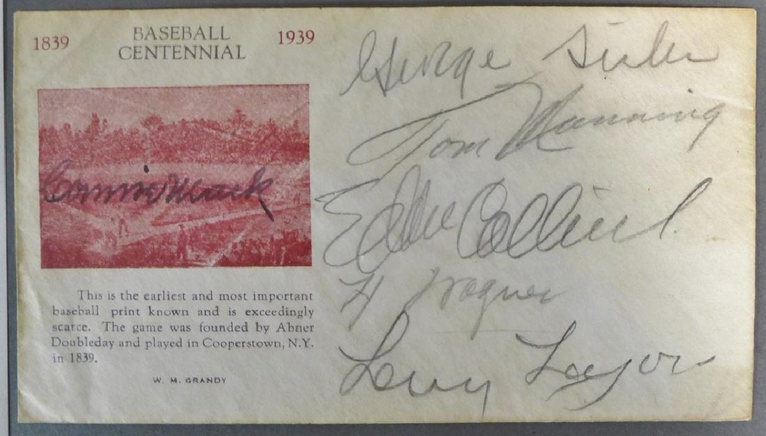 Baseball Centennial Multi Signed Cachet w/ JSA