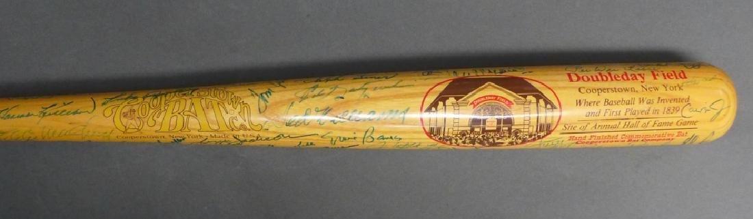 Cooperstown Bat Co. HOF Bat w/ 65 Signatures