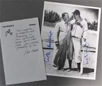 Rare Signed Happy Chandler & Hank Greenberg Photo