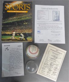 1st Sports Illustrated, Autographed Ball & Program