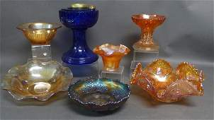 Vintage Carnival Glass Collectibles