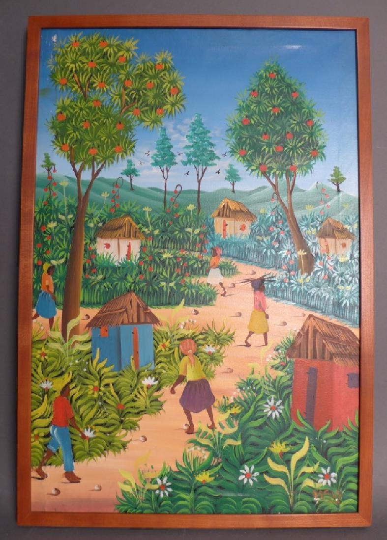 Signed Haitian Painting - 10