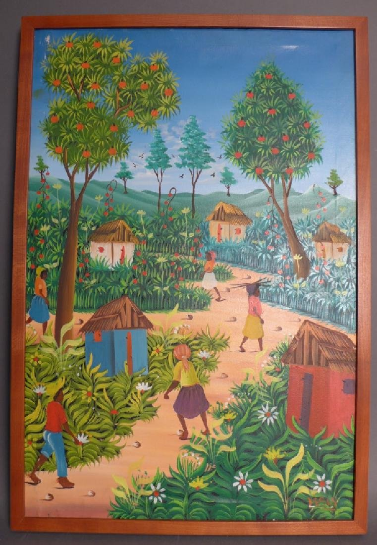 Signed Haitian Painting