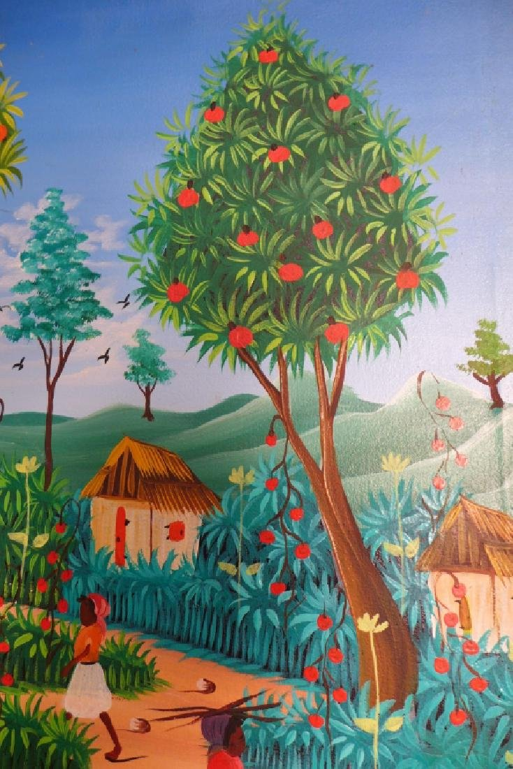 Signed Haitian Painting - 6