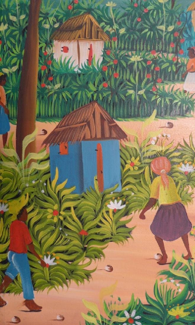 Signed Haitian Painting - 7