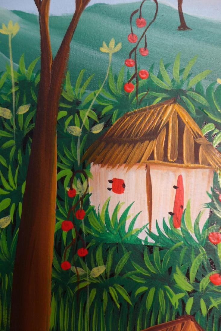 Signed Haitian Painting - 8