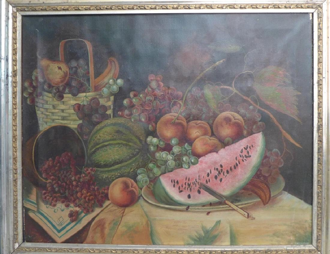 Unsigned Still Life Oil on Canvas