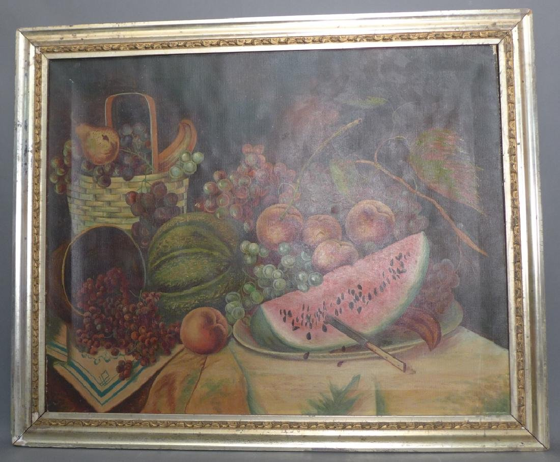 Unsigned Still Life Oil on Canvas - 2