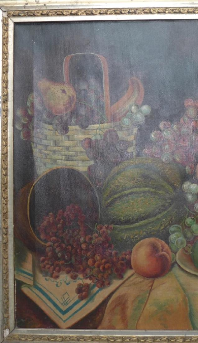 Unsigned Still Life Oil on Canvas - 3