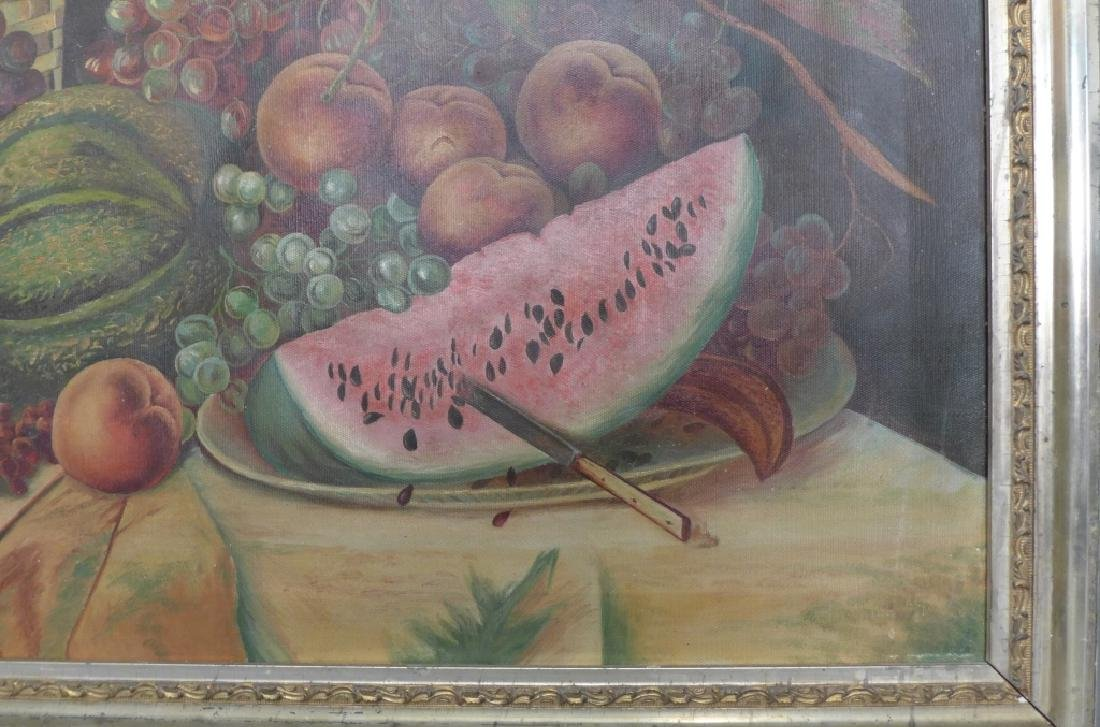 Unsigned Still Life Oil on Canvas - 4