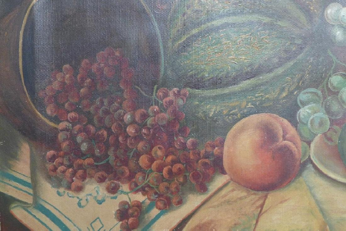 Unsigned Still Life Oil on Canvas - 8