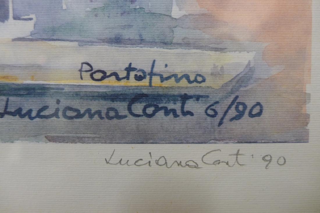 """Luciana Conti """"Portofino"""" Lithograph - 3"""