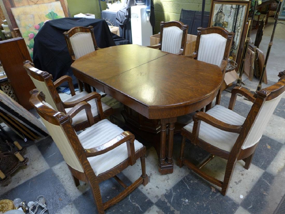 Solid Tiger Oak Expanding Table - 10