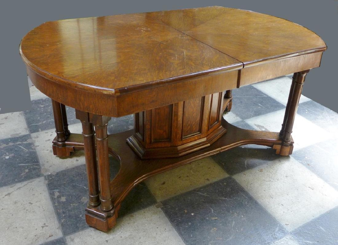 Solid Tiger Oak Expanding Table