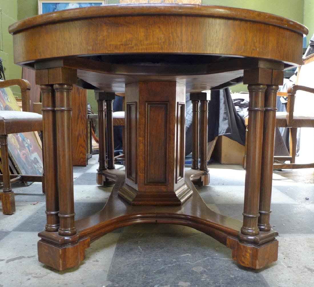 Solid Tiger Oak Expanding Table - 2