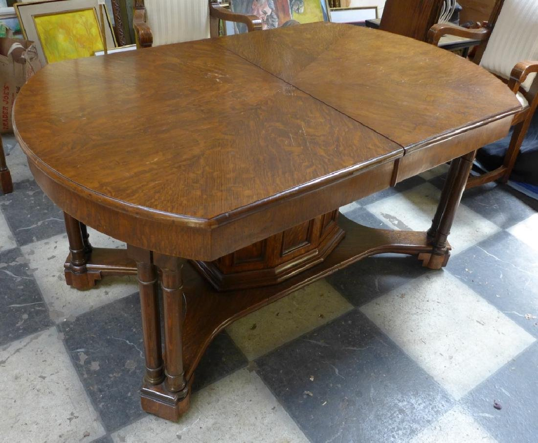 Solid Tiger Oak Expanding Table - 4